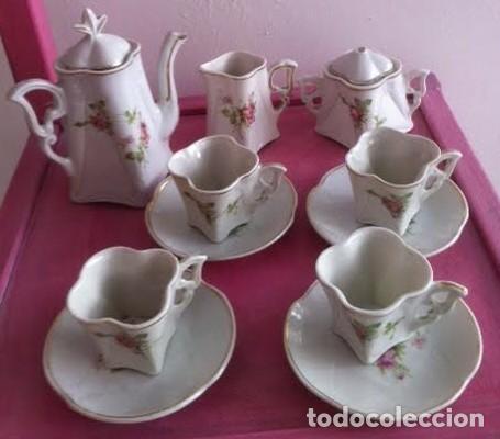 ANTIGUO JUEGO CAFE O TE PARA MUÑECAS PORCELANA Y ORO , PRINCIPIOS SIGLO, PRECIOSO (Juguetes - Vestidos y Accesorios Muñeca Española Clásica (Hasta 1960) )