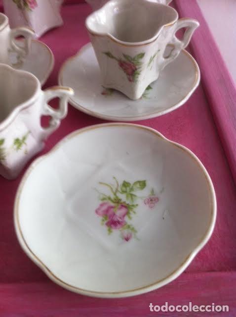 Vestidos Muñeca Española Clásica: Antiguo juego cafe o te para muñecas porcelana y oro , principios siglo, precioso - Foto 5 - 72025139