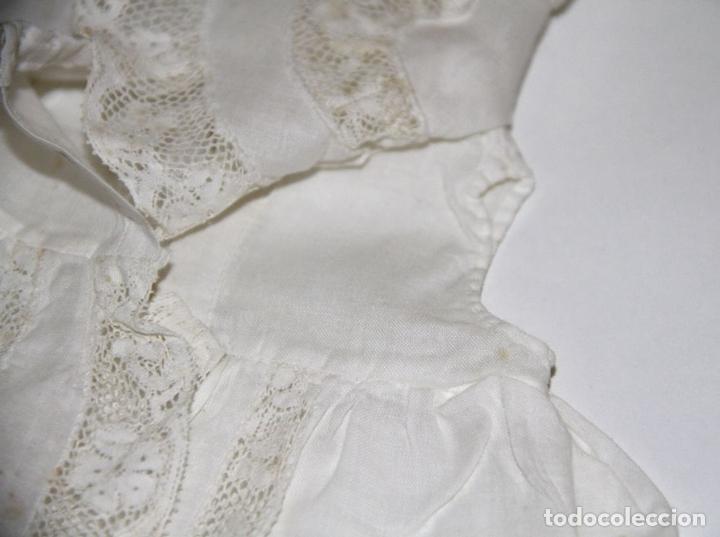 Vestidos Muñeca Española Clásica: CAPA PARA MUÑECA ANTIGUA. ALGODÓN Y ENCAJE. ESPAÑA. PRINC. S. XX - Foto 4 - 79006637