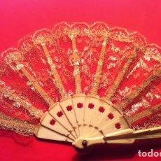 Vestidos Muñeca Española Clásica: ABANICO PARA MUÑECA ANTIGUA. Lote 80399577