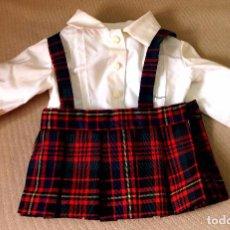 Vestidos Muñeca Española Clásica: ROPA DE MUÑECA CLÁSICA ESPAÑOLA, ANTIGUO VESTIDO, COLEGIALA, UNIFORME. Lote 82757016
