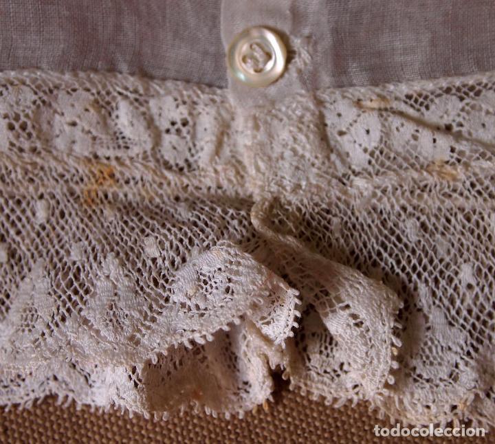 Vestidos Muñeca Española Clásica: ROPA DE MUÑECA CLÁSICA ESPAÑOLA, COMBINACION, CAMISA DE ORGANZA Y PUNTILLA, CAYETANA O MARIQUITA - Foto 6 - 82757420