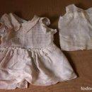 Vestidos Muñeca Española Clásica: ROPA DE MUÑECA CLÁSICA ESPAÑOLA, ANTIGUO VESTIDO Y COMBINACION DE ORGANZA, MARIQUITA, CAYETANA. Lote 82759120