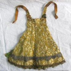 Vestidos Muñeca Española Clásica: ESPECTACULAR VESTIDO DE MUÑECA GRANDE HECHO A MANO. PRINCIPIOS DEL SIGLO XX. Lote 83516584