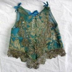 Vestidos Muñeca Española Clásica: MAGNÍFICA BLUSA DE MUÑECA GRANDE ESTILO MODERNISTA. PRINCIPIOS DEL SIGLO XX. Lote 83516720