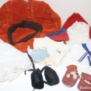 Vestidos Muñeca Española Clásica: LOTE DE ROPA PARA MUÑECA. DIFERENTES MATERIALES. ESPAÑA. AÑOS 30. Lote 90529800