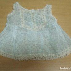 Vestidos Muñeca Española Clásica: CAMISON VESTIDO ANTIGUO PARA MUÑECA CIERRE TRASERO BOTONES ETIQUETA 0 - 0. Lote 93122710
