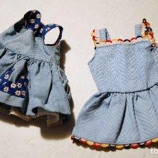 Vestidos Muñeca Española Clásica: 2 VESTIDITOS PARA MUÑECAS 25-30 CM-. Lote 94755391