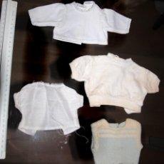 Vestidos Muñeca Española Clásica: DOS JERSEYS Y DOS BLUSAS PARA MUÑECO. Lote 95007707