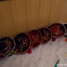 Vestidos Muñeca Española Clásica: LOTE DE 4 SOMBREROS MEJICANOS PARA MUÑECA ,TAMAÑO NANCI ,(VER FOTOS Y LEER DESCRIPCION)SOLO SON 4 .. Lote 95469551