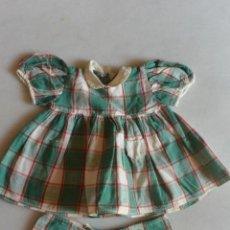 Vestidos Muñeca Española Clásica: CONJUNTO DE 2 PIEZAS VESTIDO PANTALÓN.AÑOS 50. Lote 97653975