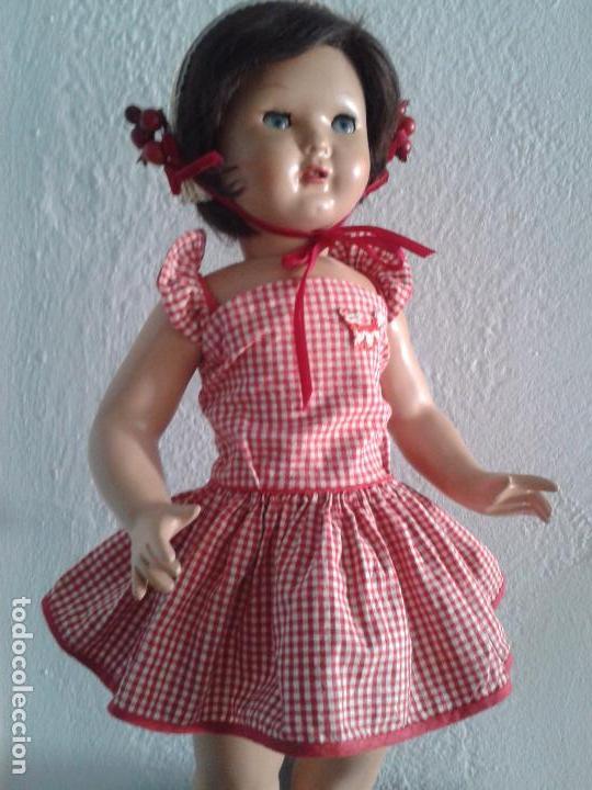 Vestidos Muñeca Española Clásica: PRECIOS VESTIDO AÑOS 50 ,PARA UNA MUÑECA DE 55 CM ,(VENIA EN ESTA MUÑECA DE FLORIDO) - Foto 2 - 100510703