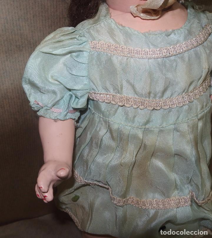 Vestidos Muñeca Española Clásica: VESTIDO CON CAPOTA AZUL,SEDA,CAYETANA,AÑOS 40 - Foto 9 - 36917431