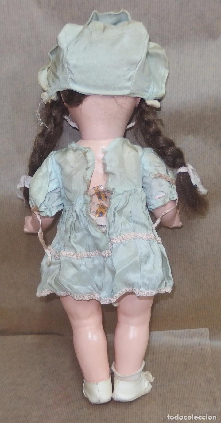 Vestidos Muñeca Española Clásica: VESTIDO CON CAPOTA AZUL,SEDA,CAYETANA,AÑOS 40 - Foto 13 - 36917431