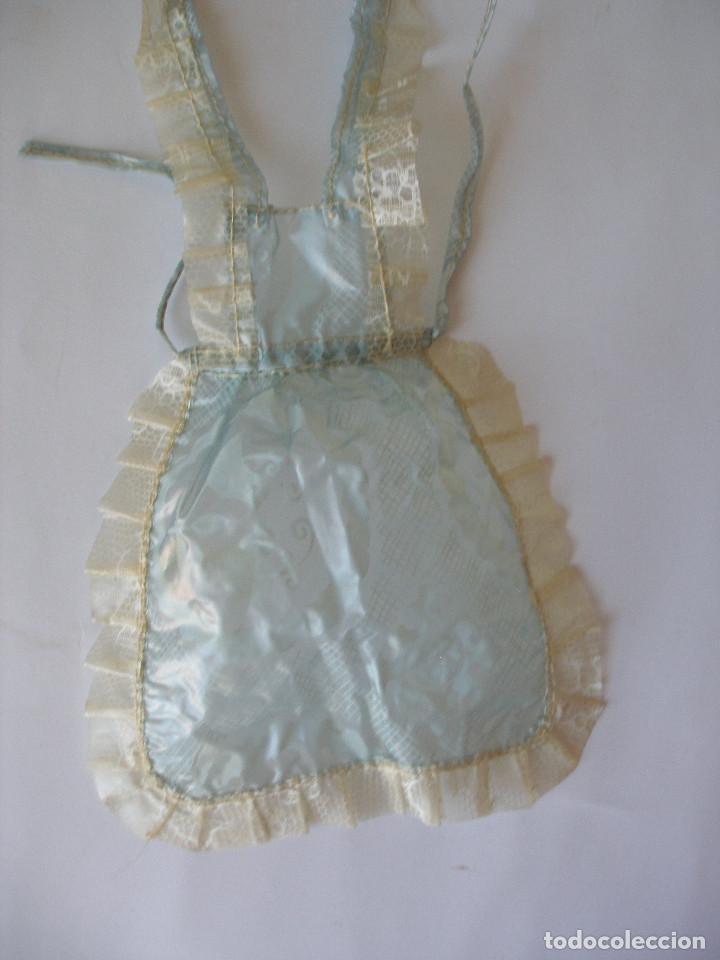 Vestidos Muñeca Española Clásica: Delantal hule cristal Mariquita Perez años 40 - 50 - Foto 2 - 217182703