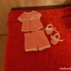 Vestidos Muñeca Española Clásica: TRAJECITO COMPLETO ,PARA MUÑECA TAMAÑO COMO UN QUIQUE PEQUEÑO. Lote 105382531