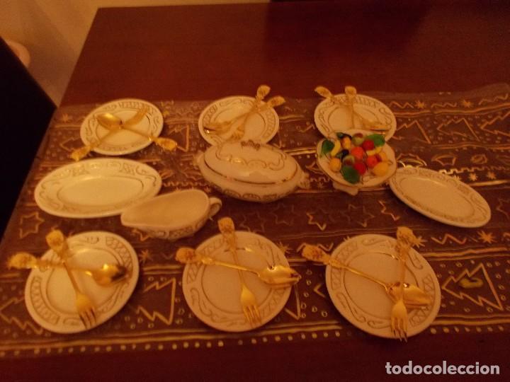 Vestidos Muñeca Española Clásica: Antigua vajilla +cuberteria + frutas y verduras de cristal murano (ver fotos y leer descripcion) - Foto 2 - 107793255