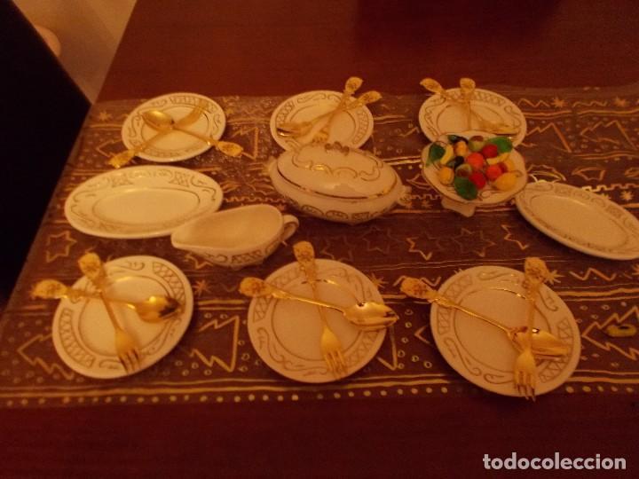 Vestidos Muñeca Española Clásica: Antigua vajilla +cuberteria + frutas y verduras de cristal murano (ver fotos y leer descripcion) - Foto 3 - 107793255