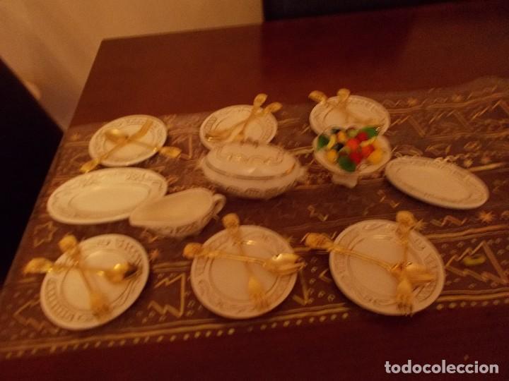 Vestidos Muñeca Española Clásica: Antigua vajilla +cuberteria + frutas y verduras de cristal murano (ver fotos y leer descripcion) - Foto 4 - 107793255