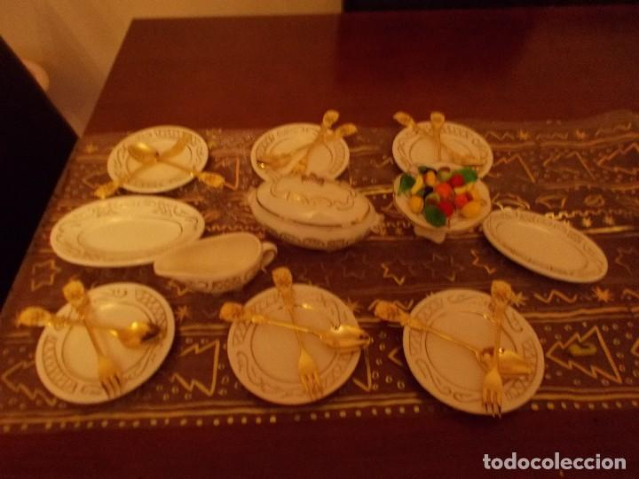 Vestidos Muñeca Española Clásica: Antigua vajilla +cuberteria + frutas y verduras de cristal murano (ver fotos y leer descripcion) - Foto 5 - 107793255