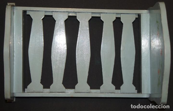 Vestidos Muñeca Española Clásica: Cama de muñeca (cama de juguete), madera, plegable, años 50 - Foto 3 - 112285951
