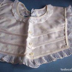 Vestidos Muñeca Española Clásica: CUELLO BLANCO PARA VESTIDO CON PERLITAS. Lote 112863227