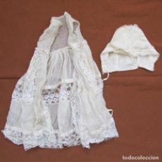 Vestidos Muñeca Española Clásica: ANTIGUO VESTIDO PARA MUÑECA GRANDE CON GORRO. Lote 114071939