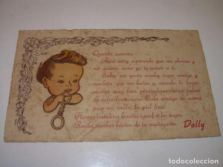 INTRUCCIONES PARA LA MUÑECA- BEBE....DOLLY. (Juguetes - Vestidos y Accesorios Muñeca Española Clásica (Hasta 1960) )