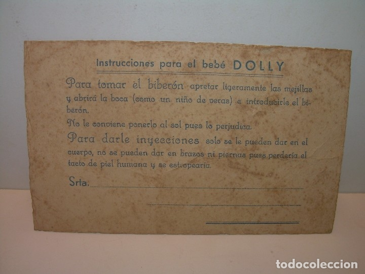 Vestidos Muñeca Española Clásica: INTRUCCIONES PARA LA MUÑECA- BEBE....DOLLY. - Foto 4 - 120251183