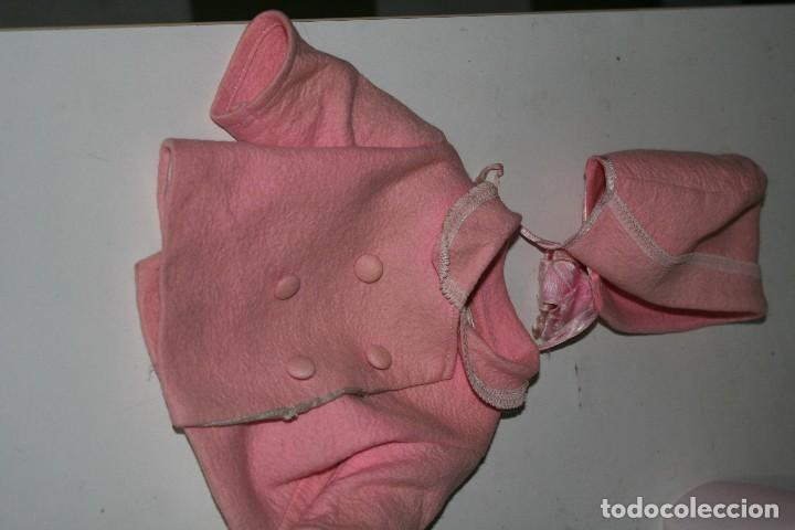 Vestidos Muñeca Española Clásica: antiguo abrigo y gorrito rosa berta de gama para muñeca tipo mariquita perez - Foto 7 - 123372899