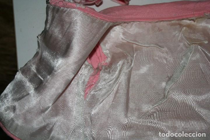 Vestidos Muñeca Española Clásica: antiguo abrigo y gorrito rosa berta de gama para muñeca tipo mariquita perez - Foto 10 - 123372899