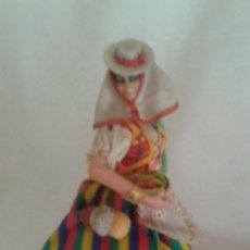 Vestidos Muñeca Española Clásica: VESIV COLECCION MUÑECOS MARIN CHICLANA MUJER JOVEN TINERFEÑA 24 CM ALTO . Lote 128704215