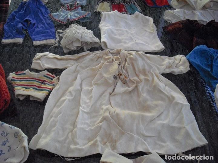 Vestidos Muñeca Española Clásica: Lote ropa muñecas antiguas,varios tamaños,faldas,pantalon,jerseys,ropa interior,zapatos....etc - Foto 7 - 128908899