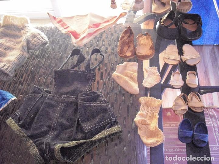 Vestidos Muñeca Española Clásica: Lote ropa muñecas antiguas,varios tamaños,faldas,pantalon,jerseys,ropa interior,zapatos....etc - Foto 14 - 128908899
