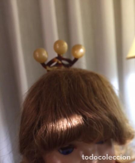 Vestidos Muñeca Española Clásica: Antigua peineta carey con bolas simil perlas, para muñeca antigua o decoración - Foto 7 - 135524010