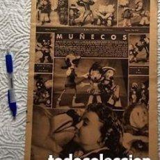 Vestidos Muñeca Española Clásica: HOJA MUÑECOS PROBABLE GROS 1940. Lote 140160582