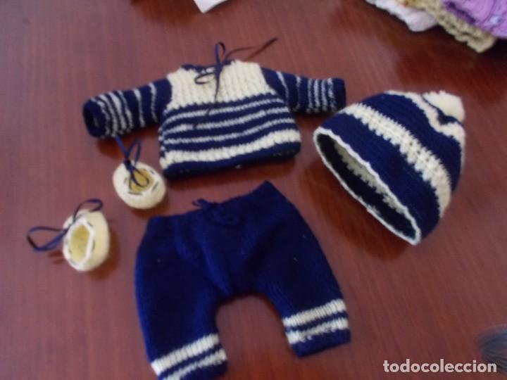 TRAJECITO COMPLETO DE PUNTO PARA MUÑECO TIPO QUIQUE PEQUEÑO ,JUANIN ,ETC (Juguetes - Vestidos y Accesorios Muñeca Española Clásica (Hasta 1960) )