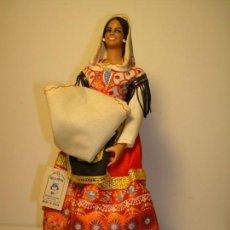 Vestidos Muñeca Española Clásica: ANTIGUA MUÑECA LAGARTERANA REGIONAL,DE MARÍN,CHICLANA.VINTAGE,AÑOS 50.RETRO.. Lote 143070538