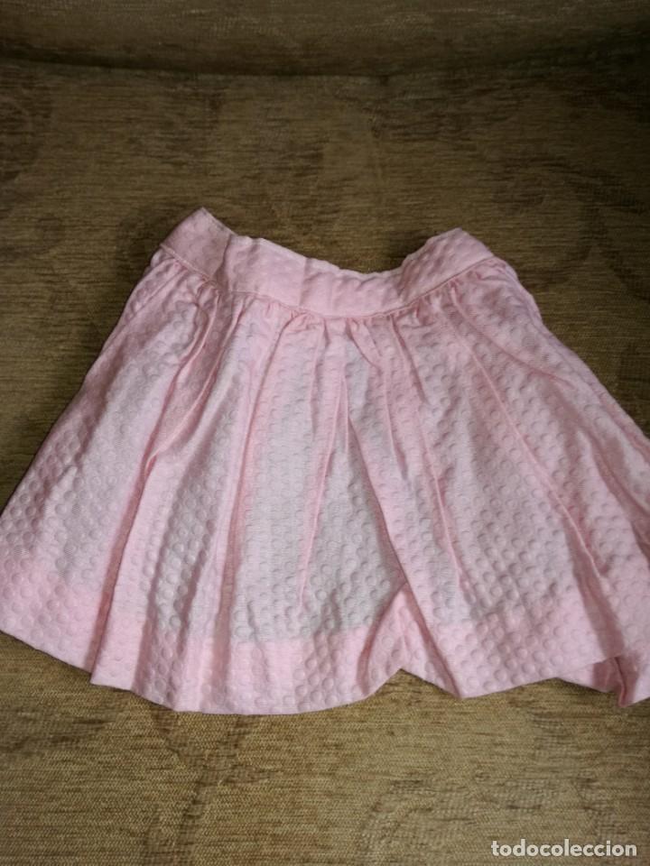 Vestidos Muñeca Española Clásica: Falda piqué rosa antigua - Foto 2 - 146796030