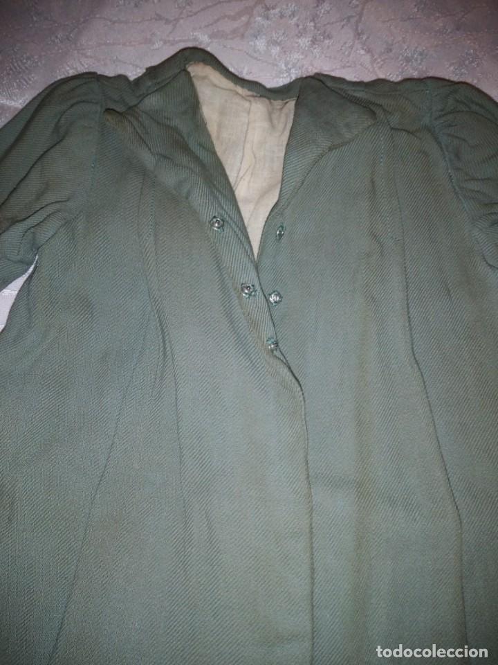 Vestidos Muñeca Española Clásica: Bonito abrigo de invierno mariquita pera,color verde oliva.forrado. - Foto 4 - 148497506