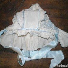 Vestidos Muñeca Española Clásica: GORRO CAPOTA DE MUÑECA - AÑOS 30-40. Lote 150558470
