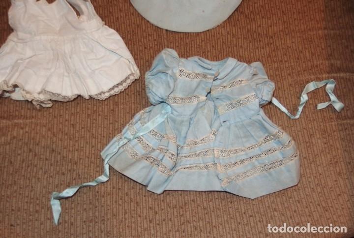 Vestidos Muñeca Española Clásica: VESTIDO AZUL CON PAMELA DE PALOMITA DE MADRID,AÑOS 40 - Foto 12 - 152789774