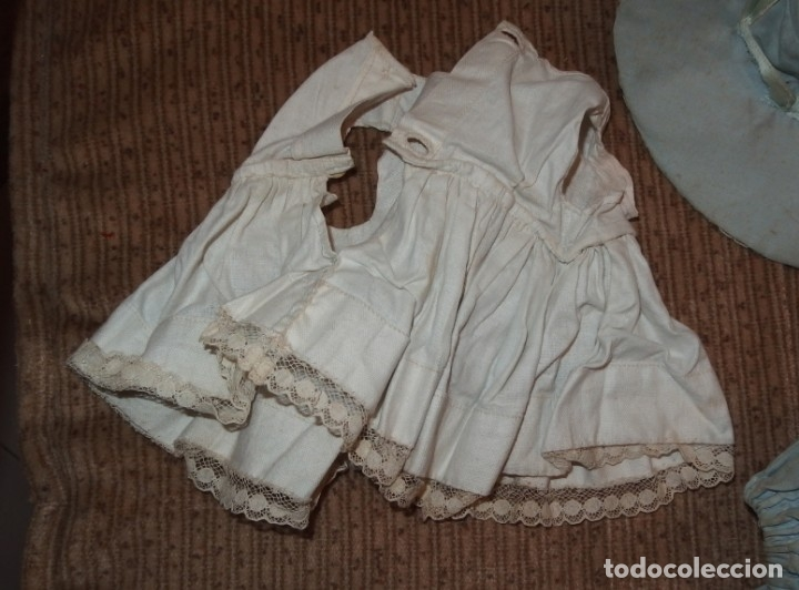 Vestidos Muñeca Española Clásica: VESTIDO AZUL CON PAMELA DE PALOMITA DE MADRID,AÑOS 40 - Foto 13 - 152789774