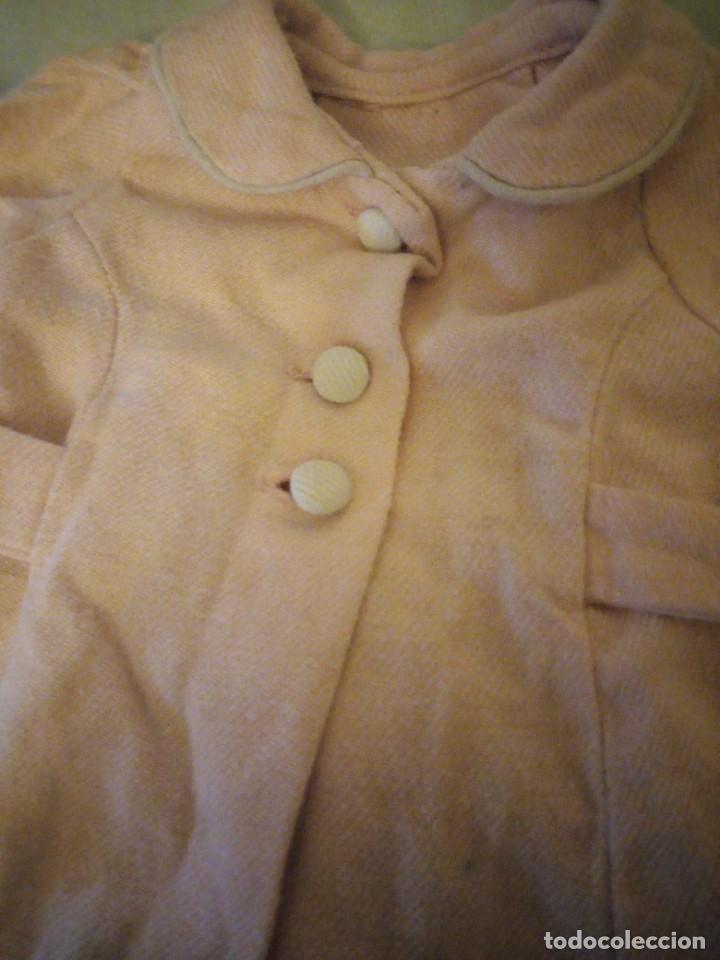 Vestidos Muñeca Española Clásica: Antiguo abrigo de invierno color rosa suave,mariquita Pérez años 49/50. - Foto 2 - 156675222