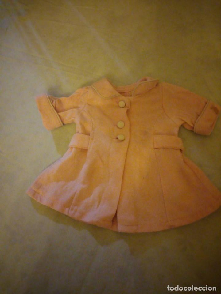 Vestidos Muñeca Española Clásica: Antiguo abrigo de invierno color rosa suave,mariquita Pérez años 49/50. - Foto 3 - 156675222