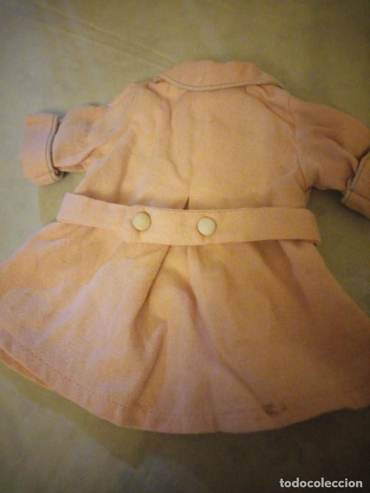 Vestidos Muñeca Española Clásica: Antiguo abrigo de invierno color rosa suave,mariquita Pérez años 49/50. - Foto 6 - 156675222