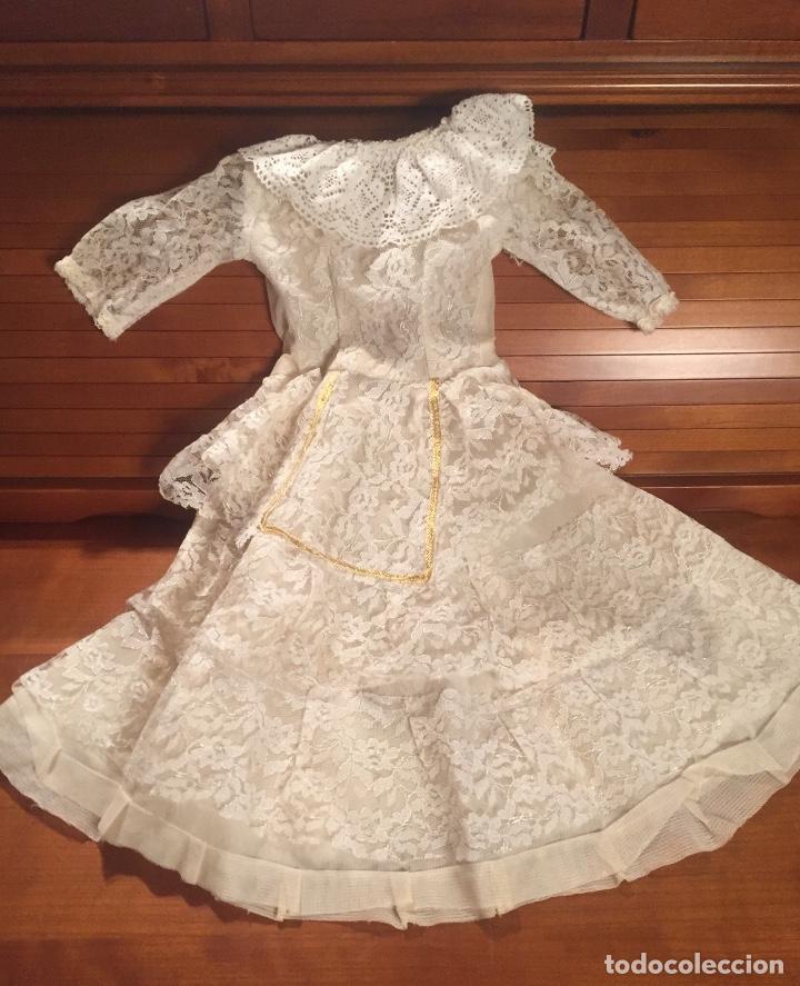 PRECIOSO VESTIDO DE ENCAJE PARA MUÑECA (Juguetes - Vestidos y Accesorios Muñeca Española Clásica (Hasta 1960) )