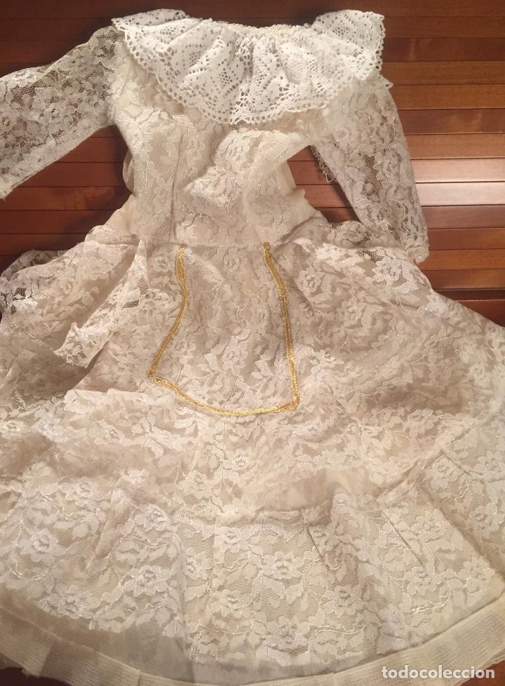 Vestidos Muñeca Española Clásica: Precioso vestido de encaje para muñeca - Foto 2 - 159045830
