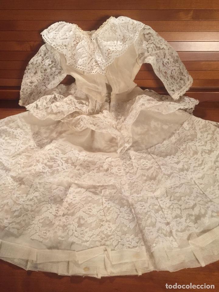 Vestidos Muñeca Española Clásica: Precioso vestido de encaje para muñeca - Foto 4 - 159045830