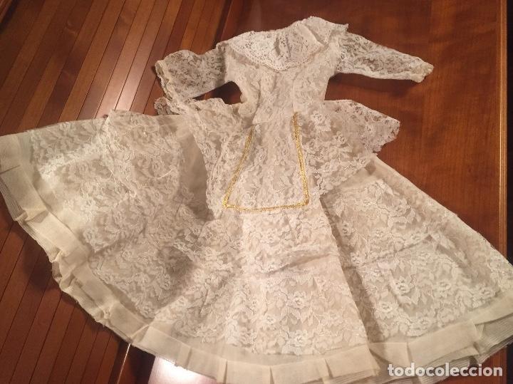 Vestidos Muñeca Española Clásica: Precioso vestido de encaje para muñeca - Foto 6 - 159045830